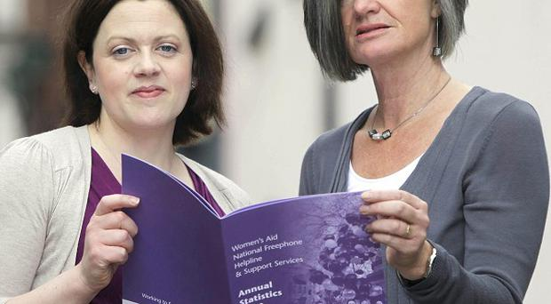 Helpline Manager Deirdre Campbell, left, and Director Margaret Martin of Women's Aid