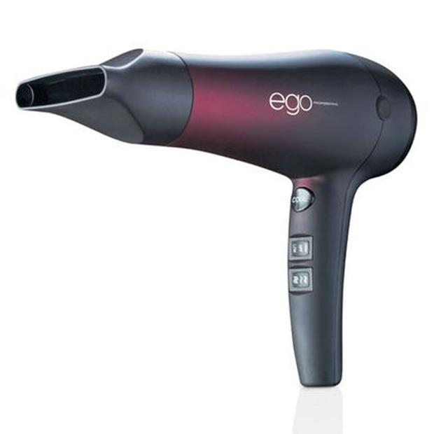 <b>1. EGO PROFESSIONAL ALTER EGO</b><br/> No fewer than eight heat and speed settings makes this ergonomic dryer the ultimate in efficiency and luxury. It's also surprisingly light and has a 10ft cord (handy for bathrooms with no plugs near the mirror). £104.50, feelunique.com