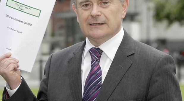 Public Expenditure and Reform Minister Brendan Howlin warned more redundancies were on the cards for civil servants