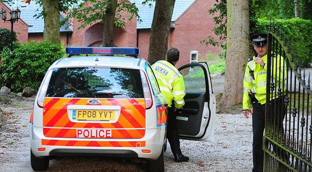 Police at the home of Conservative MP Andrew Bridgen. No action is to be taken over sexual assault allegations against him