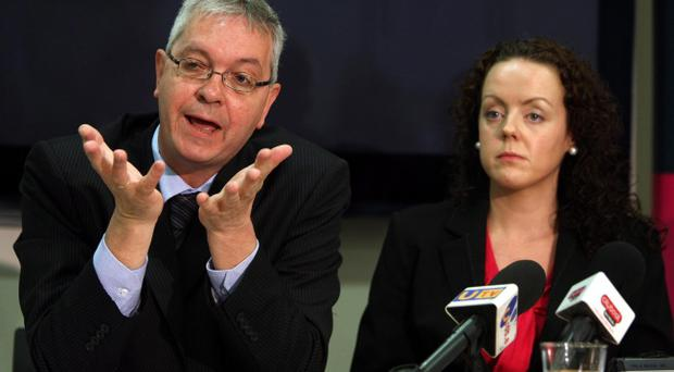 Caj director Mike Ritchie and deputy director Aideen Gilmore discuss their findings at yesterday's press conference