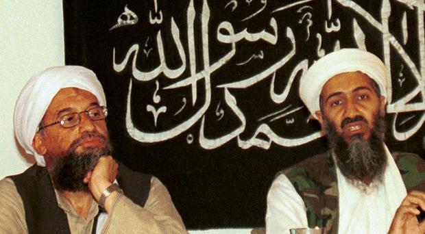 Ayman al-Zawahri, left, pictured in 1998 with Osama bin Laden in Khost, Afghanistan (AP)