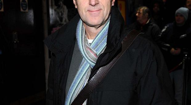 Angus Deayton decided against using a stunt bottom for his latest film