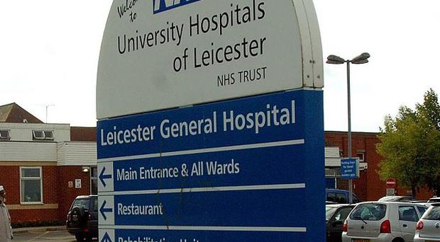 Police are hunting a suspected gunman at Leicester General Hospital