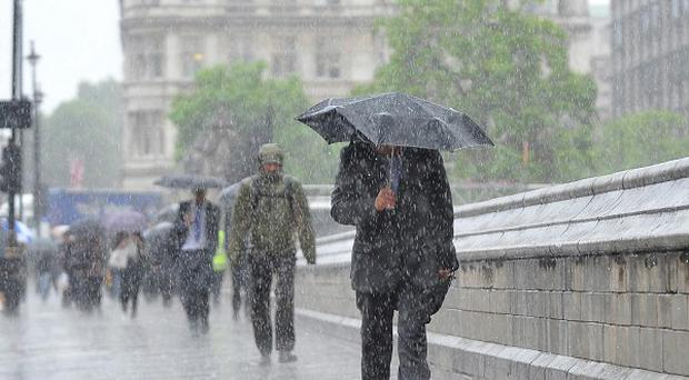 Some parts of the UK experienced over one-fifth of their expected monthly rainfall in just six hours on Thursday