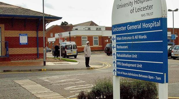 A report of a man seen with a suspected firearm at Leicester General Hospital was a false alarm