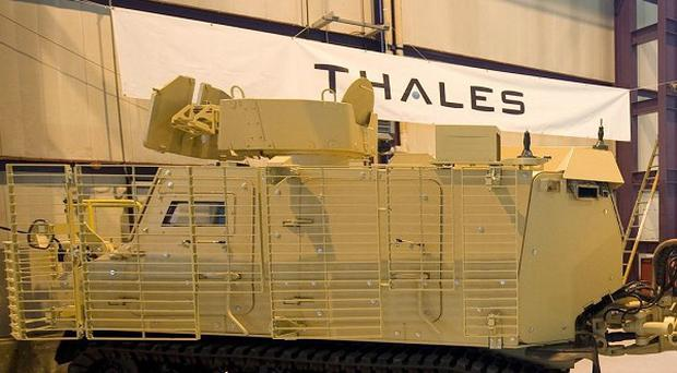 Defence sales in Northern Ireland, including at Thales, were worth 128 million last year