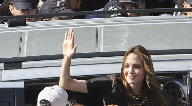 Angelina Jolie, goodwill ambassador for the UN High Commissioner for Refugees, visited Syrian refugees in Turkey (AP)