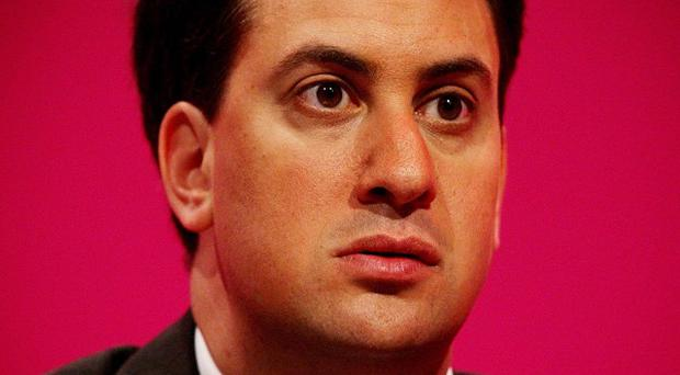 Labour leader Ed Miliband has suffered a 10 per cent fall in his public approval ratings over the past month