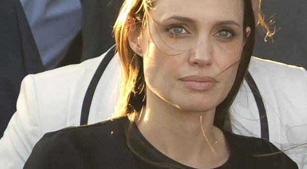 Angelina Jolie gave thanks on behalf of refugees from Tunisia and Libya