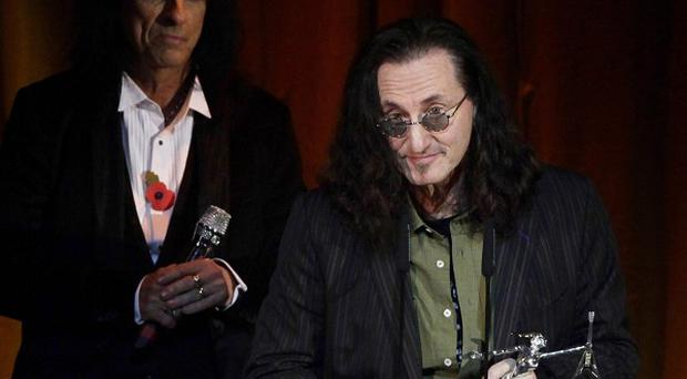 Geddy Lee of Rush who have been voted greatest live act of all time