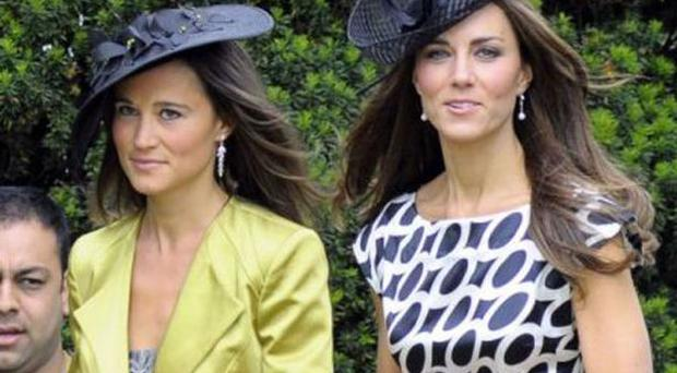 Pippa and Kate Middleton