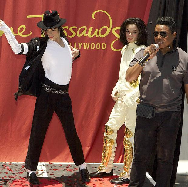 Jermaine Jackson unveiled a tribute to brother Michael at Madame Tussauds Hollywood