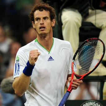 Andy Murray celebrates defeating Spain's Daniel Gimeno-Traver on Monday
