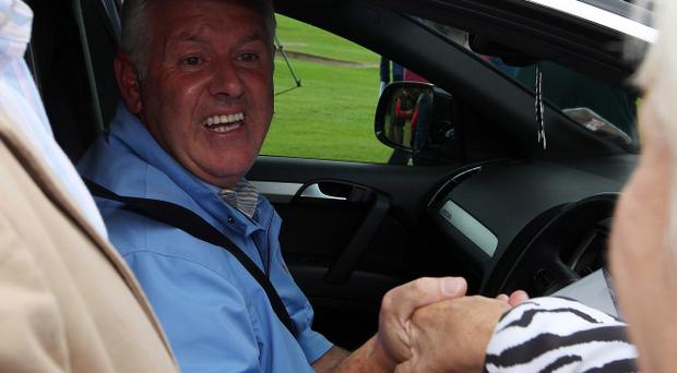 US Open Champion 2011 Rory McIlroy returns to Hollywood Golf Club outside Belfast. Rory's father Gerry pictured at the club