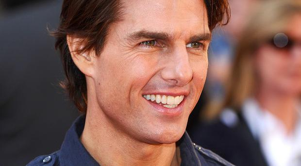 Tom Cruise sports a retro look for the movie