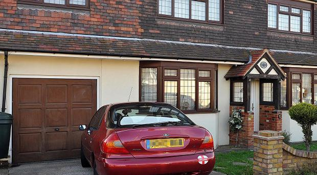 The property in Wickford, Essex, where Ryan Cleary was arrested