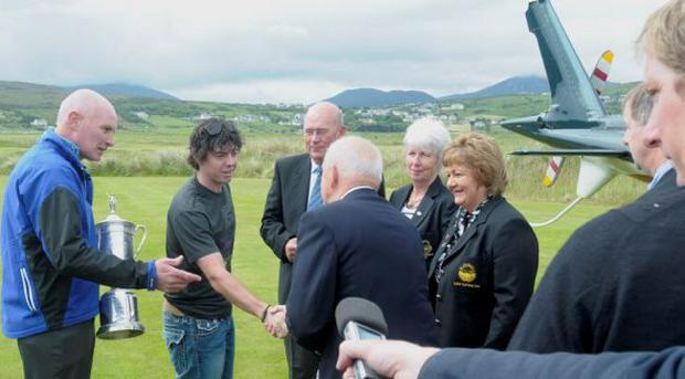 Rory McIlroy at Ballyliffin Golf club, June 2011