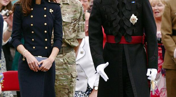 The Duke and Duchess of Cambridge at the Victoria Barracks, Windsor