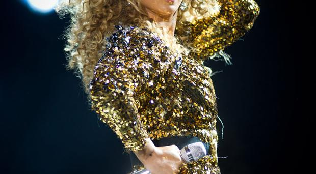 Beyonce performs at the Glastonbury Festival