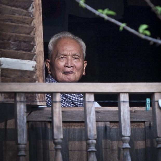 Former Khmer Rouge secon-in-command Nuon Chea faces a war crimes tribunal in Cambodia (AP)