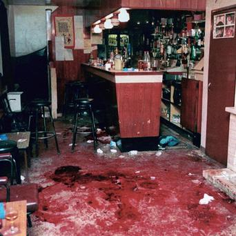 The scene following the Loughinisland shootings