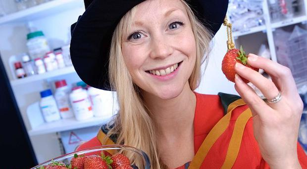 Emma Brown, who proved the cancer fighting potential of strawberries, will be awarded a PhD at the University of Ulster