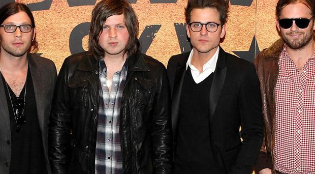 Kings of Leon arrive for the European premiere of their documentary Talihina Sky at the Festival Theatre, Edinburgh