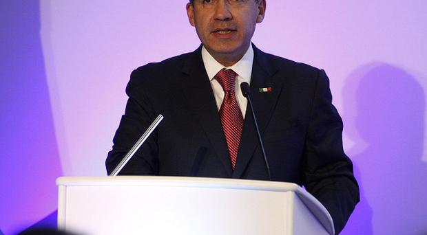 Mexican president Felipe Calderon has defended his government's fight against drug trafficking and crime