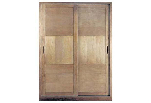 <b>JOHN LEWIS CARSON SLIDING: </b>A bold-looking wardrobe made from oak and finished with a walnut lacquer and inset panelling. It?s functional too, coming with a removable shelf and off-centre partition with hanging rails either side.<b> £1,650, johnlewis.com</b>
