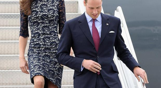 The Duke and Duchess of Cambridge arrive at Ottawa Macdonald-Cartier International Airport for the start of their visit to Canada