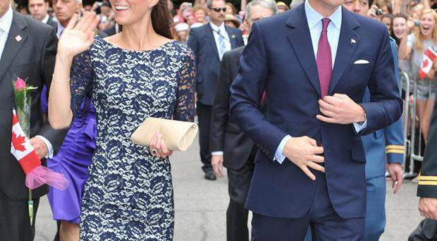 The Duke and Duchess of Cambridge outside the official residence of the Governor General of Canada, Rideau Hall, in Ottawa