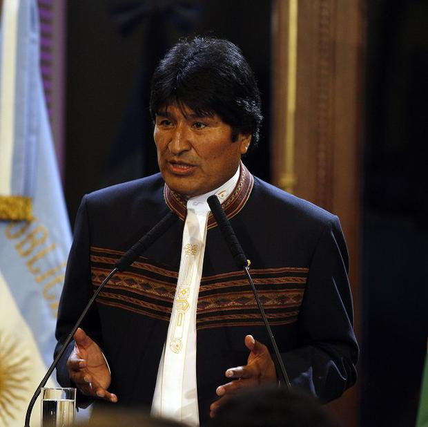 Bolivian president Evo Morales informed the United Nations it is renouncing the world body's anti-drug convention (AP)