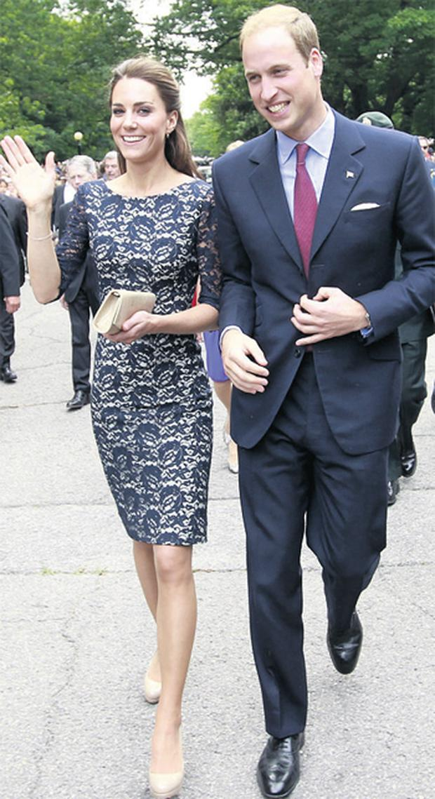 Kate and William in Canada yesterday