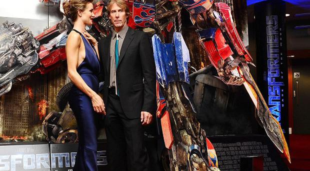 Rosie Huntington-Whiteley and director Micheal Bay at the UK fan screening of Transformers: Dark Of The Moon