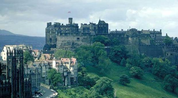 On a high: Edinburgh Castle makes a dramatic finishing point to a hike around the city