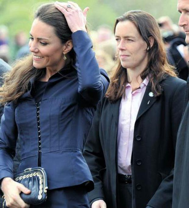 Kate Middleton with bodygaurd Emma Probert