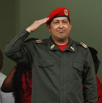 Venezuela's President Hugo Chavez told thousands of supporters in Caracas he would 'win his battle for life' and beat cancer (AP)
