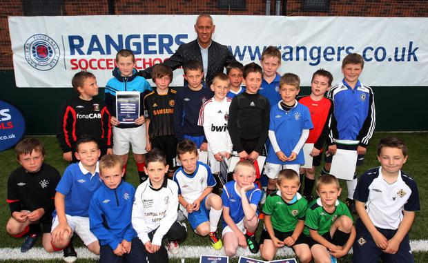 Rangers legend Mark Hateley (above, in east Belfast) feels Kyle Lafferty will silence his doubters at Ibrox