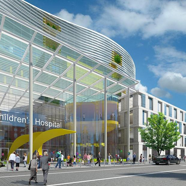 An artist impression of the new National Childrens Hospital on the Mater site in Dublin (National Childrens Hospital Project/PA)