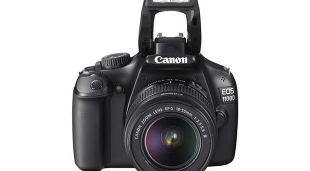 <b>Canon EOS 1100D</b><br/> This is Canon's entry-level D-SLR. It's a 12.2MP camera that's highly affordable and offers a range of shooting options as well as excellent image quality with limited image noise and decent HD video capabilities. A great first step up from compact to D-SLR.<br/> <b>Where</b> www.comet.co.uk <br/> <b>How much</b> £459.99