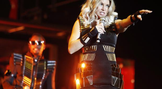 The Black Eyed Peas' Fergie on the Main Stage on Friday Night at Oxegen 2011 in Punchestown