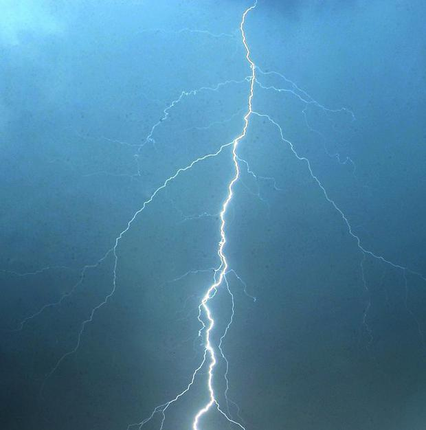 A lightning bolt has left thousands of householders without electricity in Co Tyrone