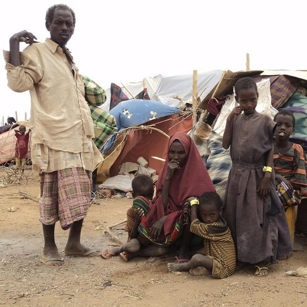 Refugees in Ethiopia, as the worst drought in the Horn of Africa in decades has sparked a severe food crisis and high malnutrition rates (AP)