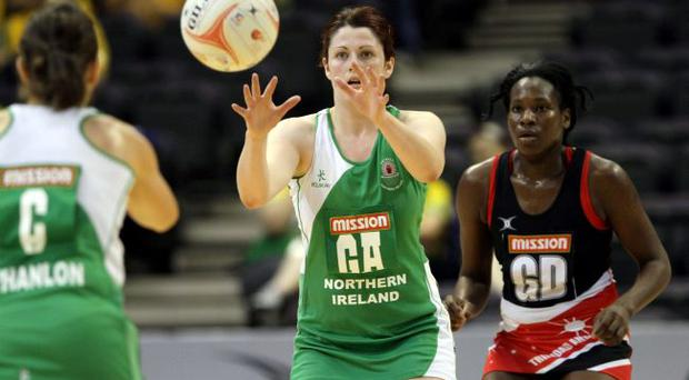 Northern Ireland's Kyla Bowman in action against Trinidad & Tobago in Singapore
