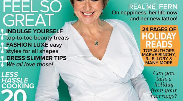 Fern Britton said she is 'enjoying a disgraceful middle age' as she showed off a new tattoo (Woman and Home/PA)