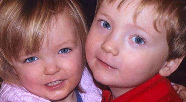 Fiona Donnison is accused of murdering her children Elise, two, and Harry, three