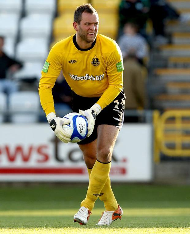 Top man: Alan Mannus is rated as the best goalkeeper playing in Ireland, north or south, at the moment