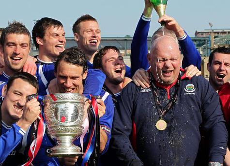 On a mission: David Jeffrey believes Linfield's Euro showdowns with BATE can prepare the team to defend the Gibson Cup and Irish Cup
