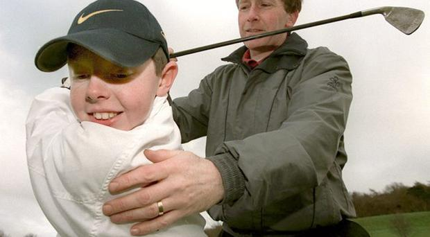 Ror talent: Coach Michael Bannon saw US Open champion Rory McIlroy's talent from an early age at Holywood Golf Club